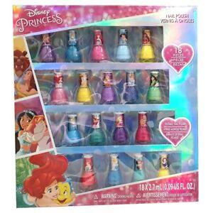 Disney Princess Nail Polish 18 Pack Assorted - Randomly Selected Colours