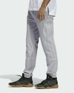 New Mens Sz Large Tall Adidas Harden CU Basketball Tech Woven Jogger Pants Grey