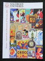 Catalogue vente enchères 2013 plaque émaillée publicitaire enamel sign PHOSCAO