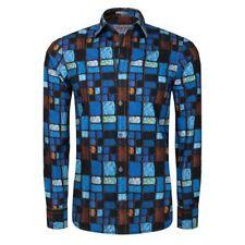 Signum - Camisa de Hombre Intensivfarbiges Áspero Camiseta Impresa