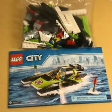 LEGO COMPLETE LOOSE SET WITH MINIFIGURES 60114 RACE BOAT 95 PIECES CITY GREEN