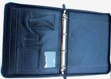 HANDMADE ZIPPED RING BINDER PAD/PORT FOLIO/ ORGANIZER IPAD/ LAPTOP HOLDER