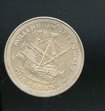 Isle of man 1979 1 crown silver Ship coin km# 47a A976