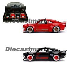Jada 1:24 JDM Tuners 1974 Mazda RX-3 Glossy Black/Red Diecast Model Car New