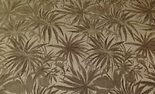 "ROBERT ALLEN ARANA LINEN CHENILLE PALM LEAF UPHOLSTERY FABRIC BY THE YARD 54""W"