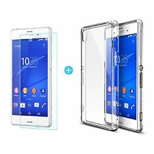 Ultra Slim Clear Hard Plastic Back Case Cover Skin For Sony Xperia Z3 Compact