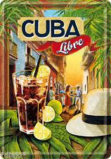 Nostalgic Art Cuba Libre Kuba Havanna Rum Cola Cocktail Blechpostkarte