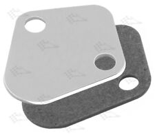 Chrome Fuel Pump Block Off Plate With Gasket - BB Big Block Chevy