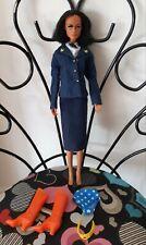 Vintage Mego Wonder Woman Action Figure Military Outfit Lynda Carter Doll Barbie