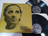 "Charles Aznavour Oro Spain Edition 1982 Barclay - Doble 2 x LP Vinilo 12"" VG/VG"