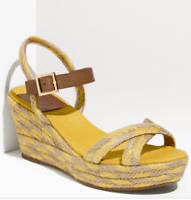3484ae2ebb20 Tory Burch Camelia Mid Wedge Tan Yellow Espadrilles Sandal Women 8M NIB