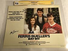 CGC 9.6 SS Ferris Bueller's Day Off Lobby Card signed by Broderick +2 1986 11x14