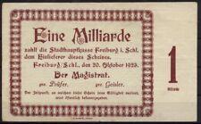 [15728] - Notgeld FREIBURG i. SCHLESIEN (heute: Świebodzice), Stadt, 1 Mrd Mk, 2