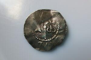 NETHERLANDS 11 century silver denar, Deventer, Heinrich II 1002-24 Dbg.562