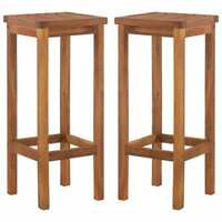 2x Solid Acacia Wood Bar Tall Stool Patio Outdoor Garden Chair Seat Home Stool
