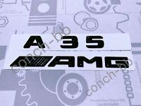 Mercedes Benz A35 AMG Badge Emblem Decals New Style Gloss Black