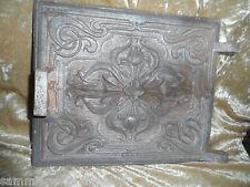 22138 Ofentür ohne Rahmen Jugendstil 1900  Floral Kunstguß 22x29 cm
