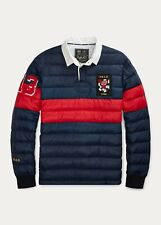 Polo Ralph Lauren Mens Down Filled Rugby | Navy and Red Stripe | Medium
