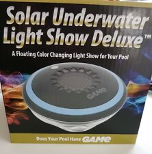 G.A.M.E. Solar Underwater Floating Colour Changing Pool Light Show Deluxe party