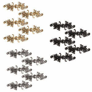 5 Pairs Women Leaf Cape Cloak Clasp Fasteners Sew On Hooks & Eyes Cardigan Clips