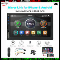 7''2 Din Autoradio Siri Android+Fotocamera BT iOS Mirror Link FM TF MP5