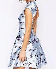 Polo Neck Floral Regular Size Sleeveless Dresses for Women