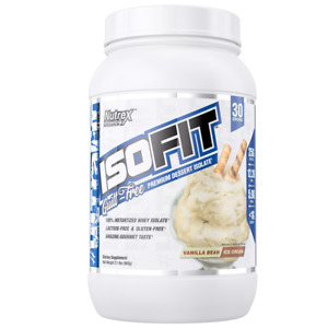 Nutrex Research IsoFit Whey Protein Isolate Powder 30 servings