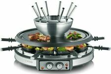 SEVERIN Premium Raclette Fondue Kombination Grill Tischgrill Raclettegrill 1900W
