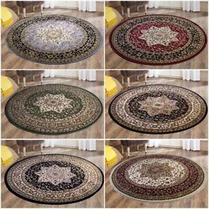 Traditional Round Non-Slip Rug Carpet Runner Soft Carpets Mat For Living Room
