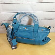 Cuore & Pelle Amelia Womens Purse Teal Satchel Leather Handbag