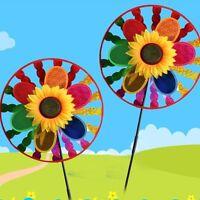 Colorful Sunflower Windmill Wind Spinner Home Garden Yard Decoration Kids Toy