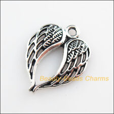 10 New Pendants Animal Birds Wings Tibetan Silver Tone Charms 17x21.5mm