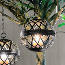 Hänge Windlicht Kugel, Laterne, Gartenlicht, Teelichthalter, Kerzenhalter,
