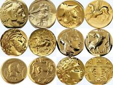 Alexander, Athena, Zeus and Apollo 6 Greek Coins, Percy Jackson Gift (6SET-G)