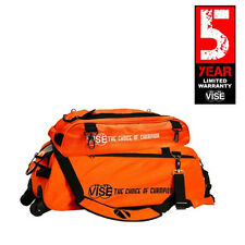 Vise Orange 3 Ball Tote Bowling Bag With Shoe Pouch