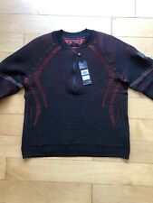 Ua IntelliKnit 2.0 ½ Zip Pullover Body Sweater-Men's (Xl) Black/Red Under Armour