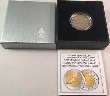 Finnland 2 Euro Münze - 90 Jahre Unabhängigkeit 2007 - Polierte Platte PP im Etu