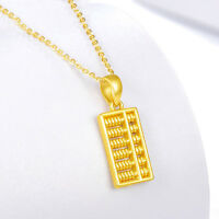 New Amazing Real 24k Yellow Gold 3D Great Abacus Fashion Pendant 1.5-1.7g