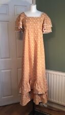 Vintage Early Laura Ashley Prairie Dress Floral 1970s Made in Wales 1970s