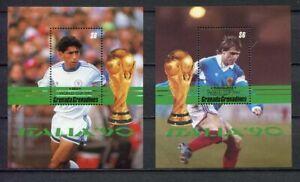 s6326) GRENADA 1990 MNH** World Cup Football'90 - C. M. Calcio S/S x2