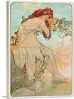 ARTCANVAS Summer 1896 Canvas Art Print by Alphonse Mucha