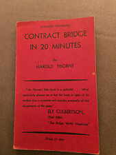 "RARE 1931 ""CONTACT BRIDGE IN 20 MINUTES"" ILLUSTRATED SMALL PAPERBACK BOOK"