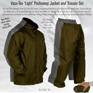 Vass-Tex 'Light' Packaway Jacket and Trouser Set ( Khaki or Titanium Grey )
