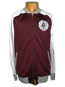 Adidas MLS Colorado Rapids Maroon White Track Jacket Men's Sz Large