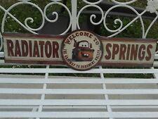 DISNEY'S RADIATOR SPRING MATER METAL SIGN MAN CAVE,GAS STATION OR SHOP