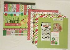 Me & My Big Ideas Holiday Christmas Specialty Cardstock Pad 48 Sheets + EXTRAS
