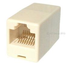 100 x RJ45 LAN Straight Coupler Network Cable Joiner Ethernet Bulk  Multi Pack