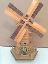Wooden Windmill Music Box, Huge Detail, Free Shipping