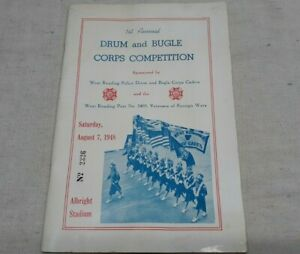 Vintage 1948 Drum & Bugle Corps Competition program West Reading PA Albright Sdm