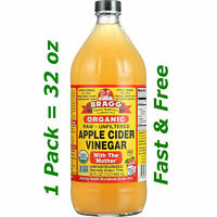 Bragg Organic Apple Cider Vinegar Usda with Mother Raw Unfiltered 32oz Free Ship